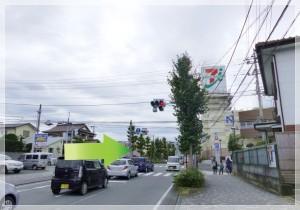 三島駅・三島大社方面からお越しの方はイトーヨーカドー三島店の手前を右に曲がって下さい